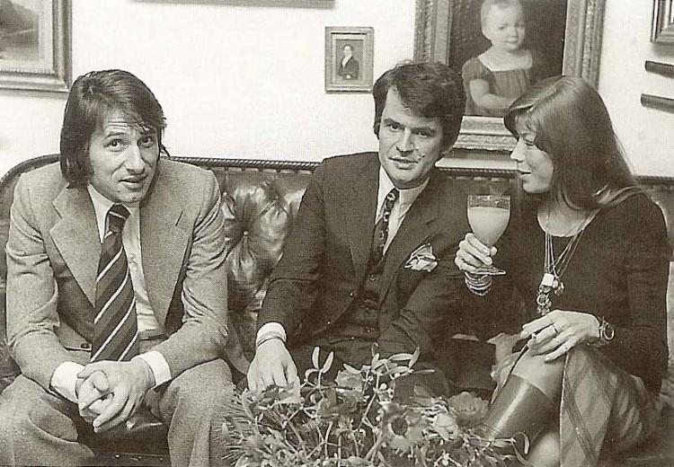 """Vorbereitung zur """"RIAS-Parade '74"""" am 29.11.1974, die von Knud und Katja moderiert wurde. Knuds Freund Udo war der Stargast."""